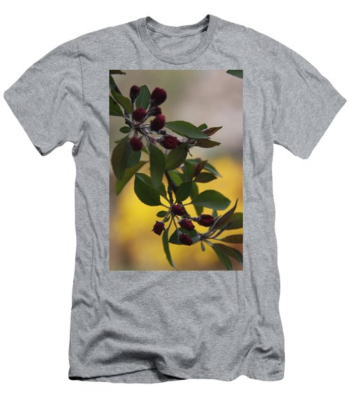 Men's T-Shirt (Slim Fit) featuring the photograph Delicate Crabapple Blossoms by Vadim Levin