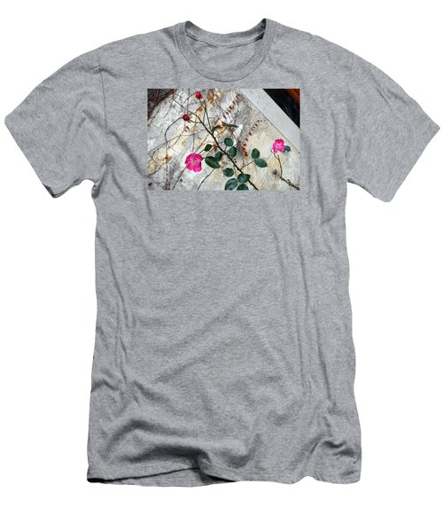 Delicate Rose In December Men's T-Shirt (Athletic Fit)