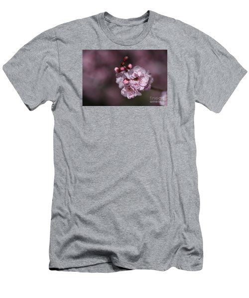 Delightful Pink Prunus Flowers Men's T-Shirt (Athletic Fit)