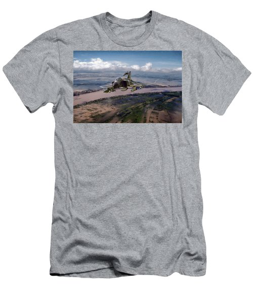 Men's T-Shirt (Slim Fit) featuring the digital art Delta Deliverance by Peter Chilelli