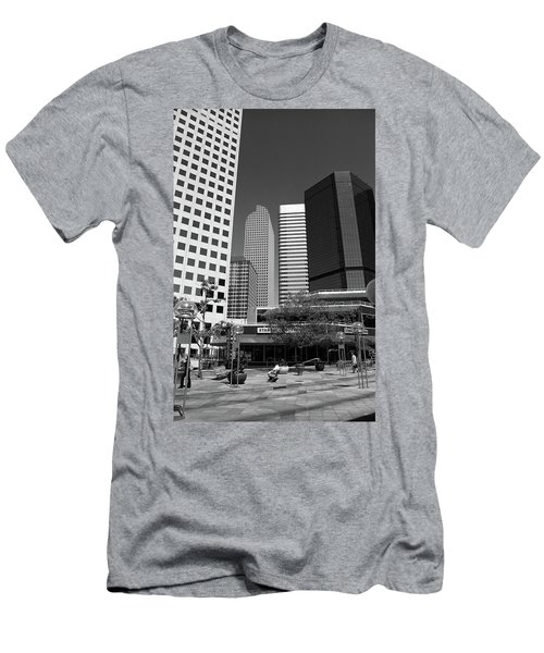 Denver Architecture Bw Men's T-Shirt (Slim Fit) by Frank Romeo