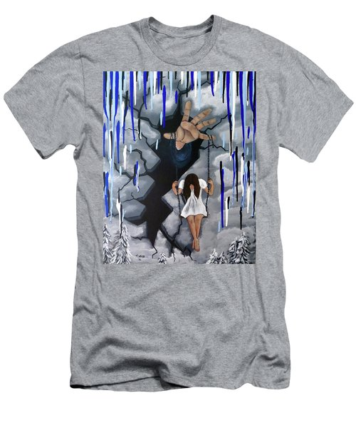 Men's T-Shirt (Slim Fit) featuring the painting Depression by Teresa Wing