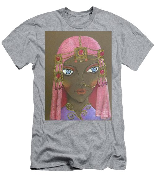 Desert Diva -- Whimsical Arabic Woman Men's T-Shirt (Athletic Fit)