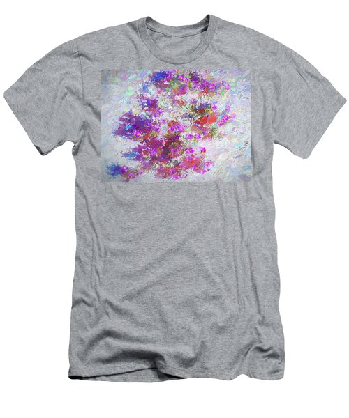 Men's T-Shirt (Athletic Fit) featuring the painting Desert Flowers Abstract 3 by Penny Lisowski