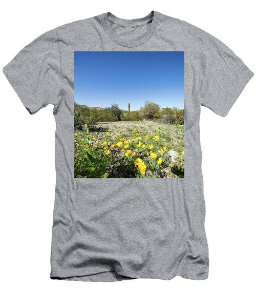 Desert Flowers And Cactus Men's T-Shirt (Athletic Fit)