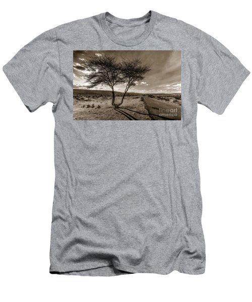 Desert Landmarks  Men's T-Shirt (Athletic Fit)