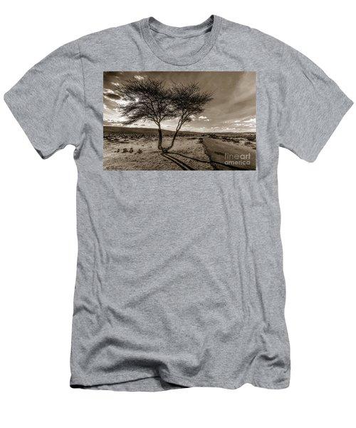 Desert Landmarks  Men's T-Shirt (Athletic Fit)