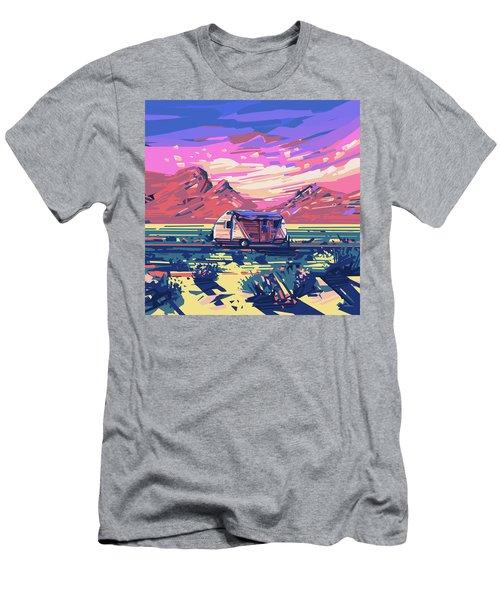 Desert Landscape Men's T-Shirt (Slim Fit) by Bekim Art