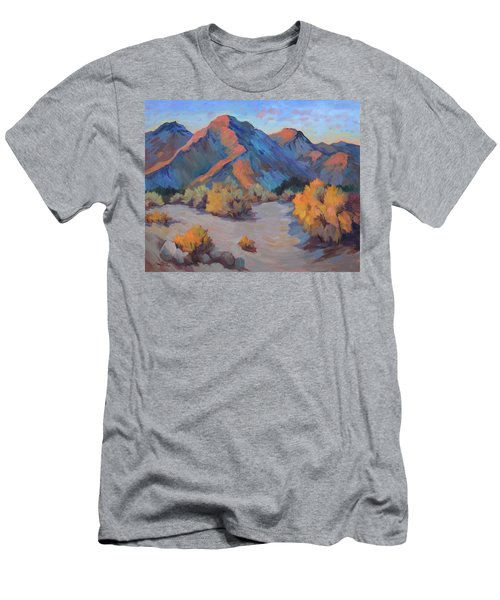 Men's T-Shirt (Slim Fit) featuring the painting Desert Light by Diane McClary