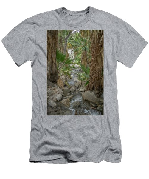 Men's T-Shirt (Athletic Fit) featuring the photograph Desert Palms Oasis by Frank DiMarco