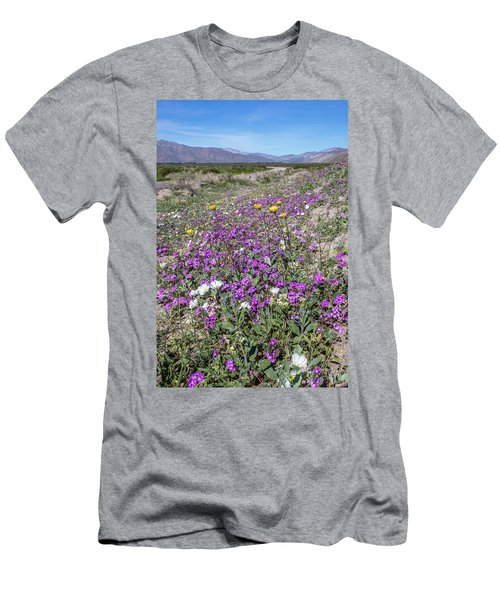 Men's T-Shirt (Slim Fit) featuring the photograph Desert Super Bloom by Peter Tellone