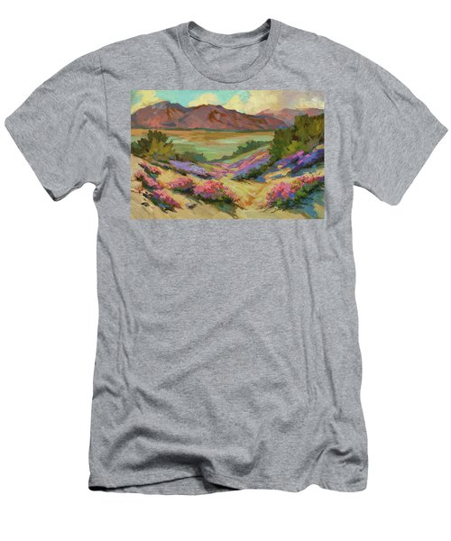 Desert Verbena At Borrego Springs Men's T-Shirt (Athletic Fit)