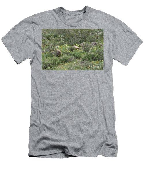 Desert Wildflowers Men's T-Shirt (Slim Fit) by Anne Rodkin