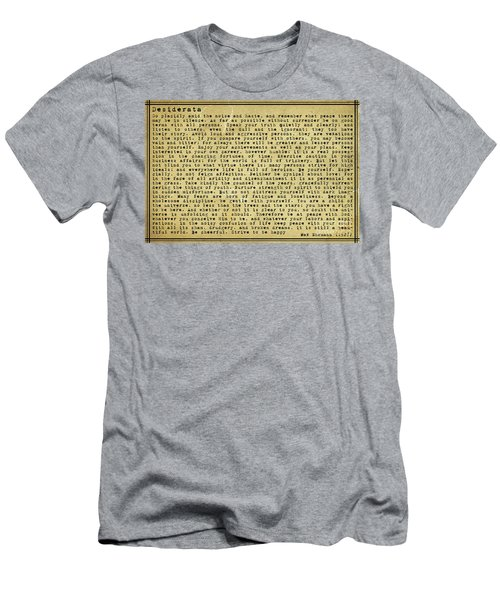 Desiderata By Max Ehrmann Men's T-Shirt (Athletic Fit)