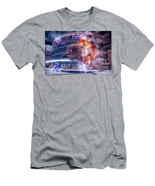 Men's T-Shirt (Slim Fit) featuring the photograph Detroit Lions At Ford Field 2 by Nicholas Grunas