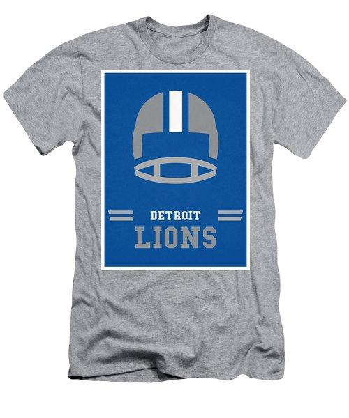 Detroit Lions Vintage Nfl Art Men's T-Shirt (Athletic Fit)