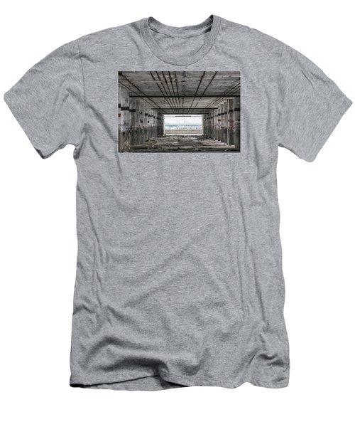 Detroit Packard Plant  Men's T-Shirt (Slim Fit) by John McGraw