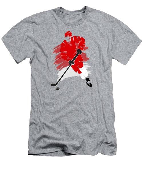 Detroit Red Wings Player Shirt Men's T-Shirt (Slim Fit) by Joe Hamilton