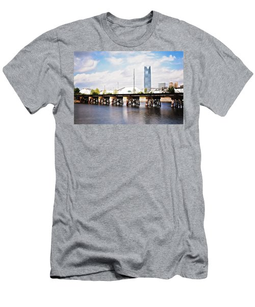 Devon Tower Men's T-Shirt (Slim Fit) by Lana Trussell