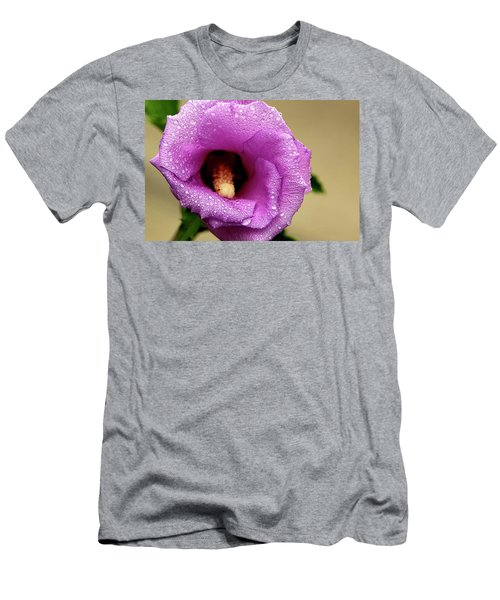 Dew On The Flower Men's T-Shirt (Athletic Fit)