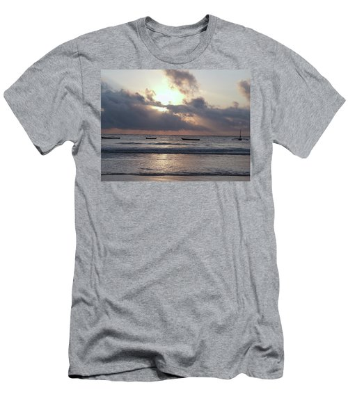 Dhow Wooden Boats At Sunrise 1 Men's T-Shirt (Athletic Fit)
