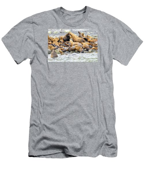 Disagreement Men's T-Shirt (Slim Fit) by Harold Piskiel