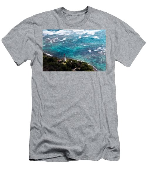 Diamond Head Lighthouse Men's T-Shirt (Athletic Fit)