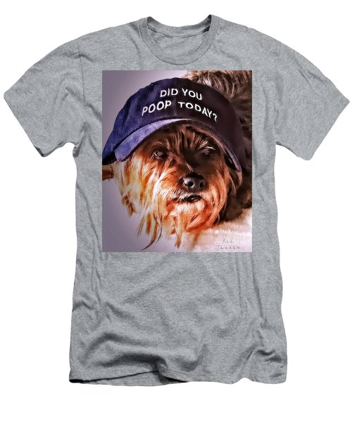Men's T-Shirt (Athletic Fit) featuring the digital art Did You Poop Today by Kathy Tarochione