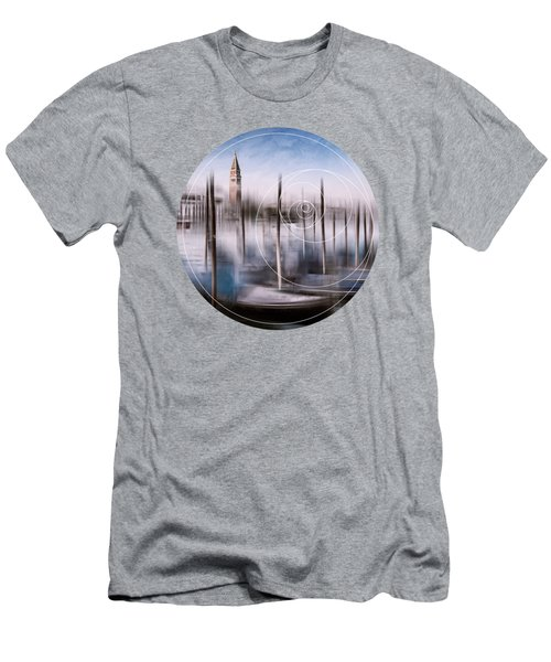 Digital-art Venice Grand Canal And St Mark's Campanile Men's T-Shirt (Slim Fit) by Melanie Viola