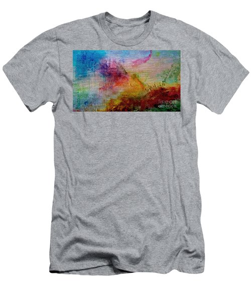 1a Abstract Expressionism Digital Painting Men's T-Shirt (Athletic Fit)
