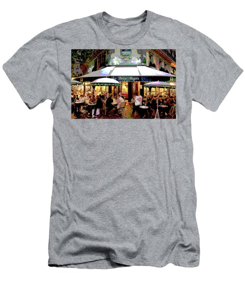 Dining Out Men's T-Shirt (Slim Fit) by Charles Shoup