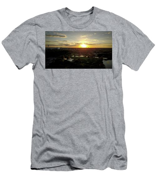 Men's T-Shirt (Slim Fit) featuring the photograph Disney Sunset by Michael Albright