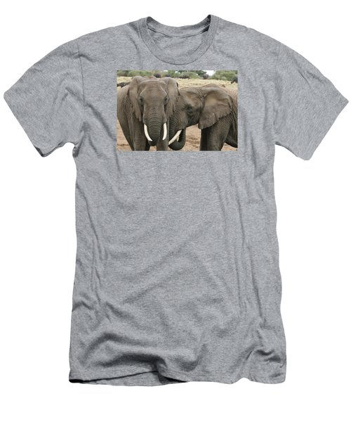 Men's T-Shirt (Slim Fit) featuring the photograph Display Of Affection by Gary Hall