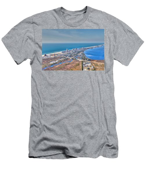 Distant Aerial View Of Gulf Shores Men's T-Shirt (Athletic Fit)