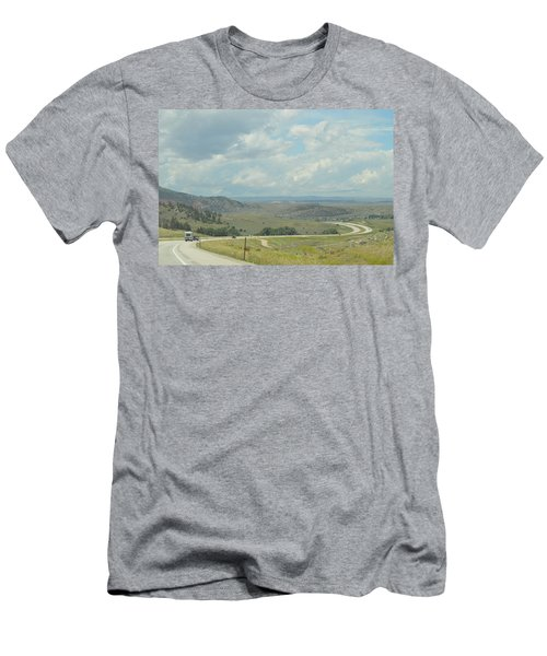 Distant Roads Men's T-Shirt (Athletic Fit)