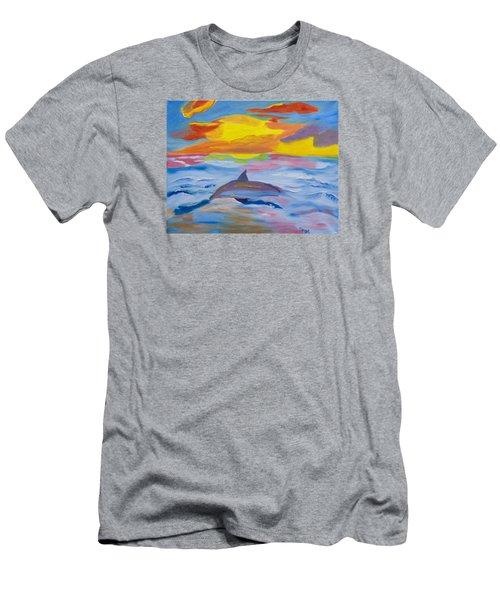 Diving Under The Sun Men's T-Shirt (Athletic Fit)