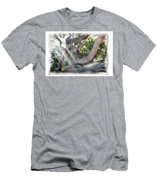 Men's T-Shirt (Slim Fit) featuring the photograph Do-00044 Mount Ettalong by Digital Oil