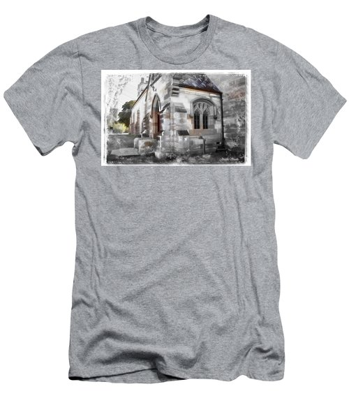 Men's T-Shirt (Athletic Fit) featuring the photograph Do-00116 Church In Morpeth by Digital Oil