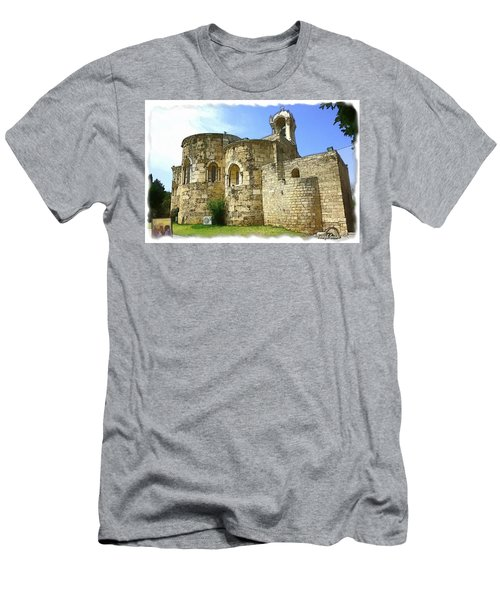 Men's T-Shirt (Slim Fit) featuring the photograph Do-00344 Church Of St John Marcus In Byblos by Digital Oil