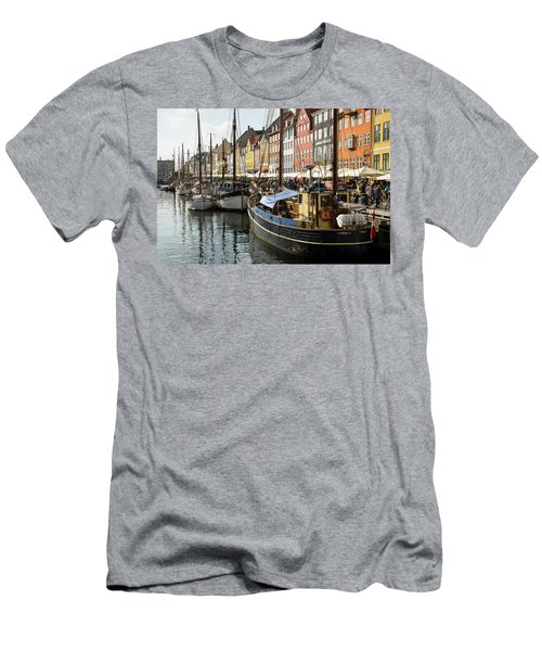 Dockside At Nyhavn Men's T-Shirt (Athletic Fit)