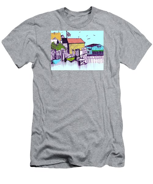 Dockside - Watercolor Sketch Men's T-Shirt (Athletic Fit)
