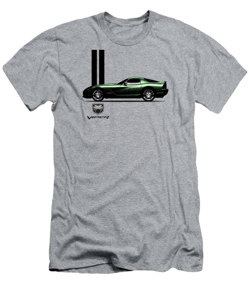Dodge Viper Snake Green Men's T-Shirt (Slim Fit) by Mark Rogan