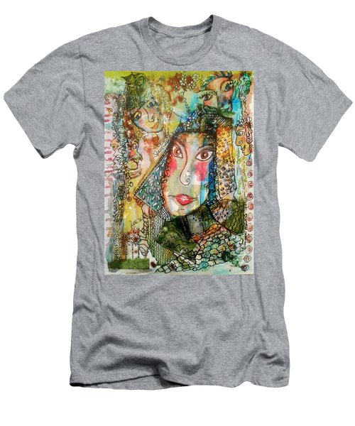 Doe Eyed Girl And Her Spirit Guides Men's T-Shirt (Athletic Fit)