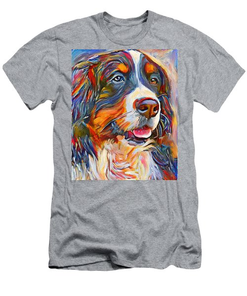 Dog In Colors Men's T-Shirt (Athletic Fit)