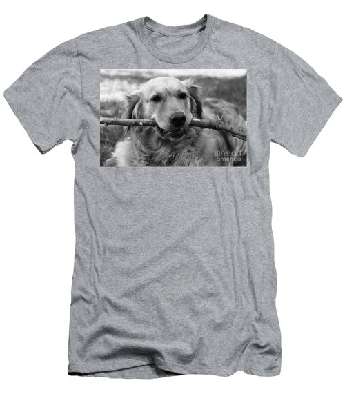 Dog - Monochrome 4 Men's T-Shirt (Athletic Fit)