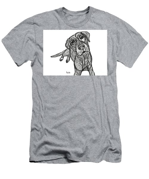 Dog Sketch In Charcoal 10 Men's T-Shirt (Athletic Fit)