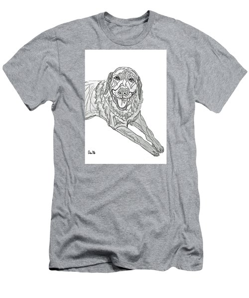 Dog Sketch In Charcoal 9 Men's T-Shirt (Slim Fit) by Ania M Milo