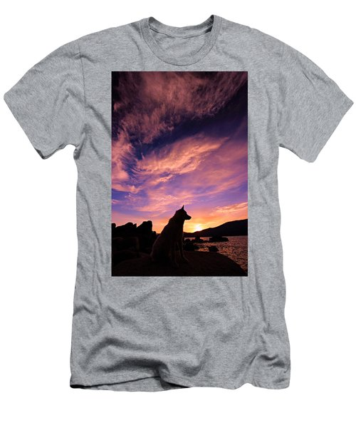 Dogs Dream Too  Men's T-Shirt (Athletic Fit)