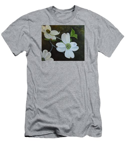 Men's T-Shirt (Slim Fit) featuring the painting Dogwood Dream by Sandra Nardone