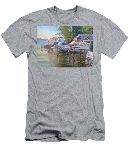 Docks At The Shores  Men's T-Shirt (Athletic Fit)